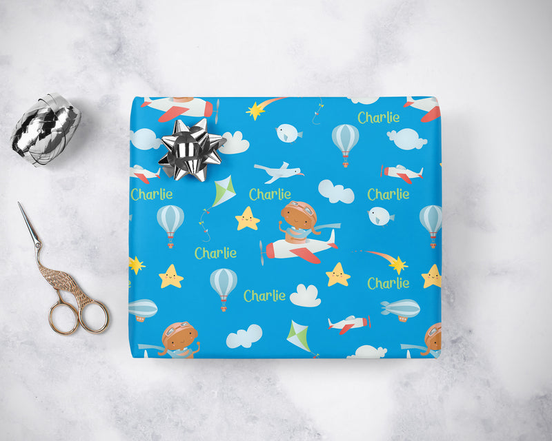 Personalized Little Pilot Wrapping Paper