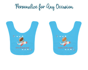 Personalized Little Pilot Baby Bib