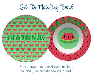 Personalized Watermelon Plate
