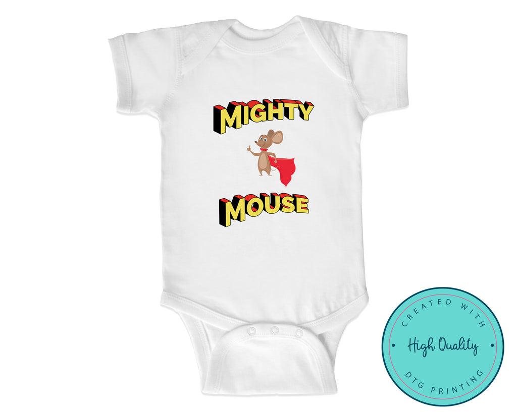 Mighty Mouse Super Hero Baby One Piece Bodysuit