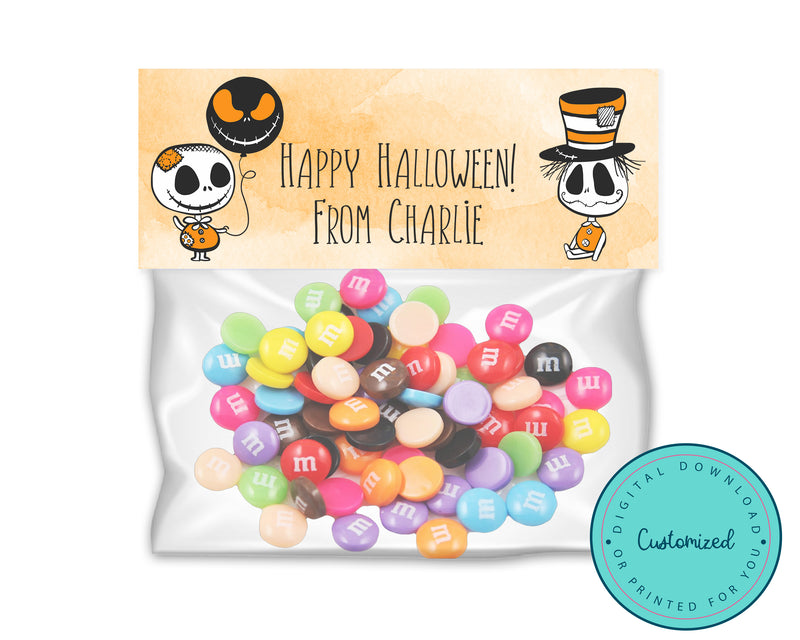 Nightmare Before Christmas and Jack Skellington-Inspired Halloween Treat Bags