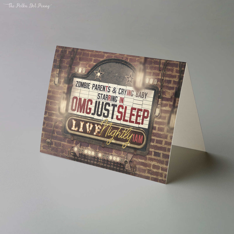 OMG Just Sleep Marquee Card