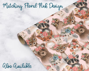 Woodland Baby Forest Animals Wrapping Paper