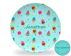 Personalized Blue Sweet Treat Plate