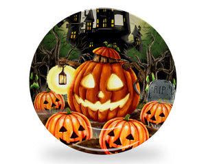 Halloween Pumpkin Monster Plate