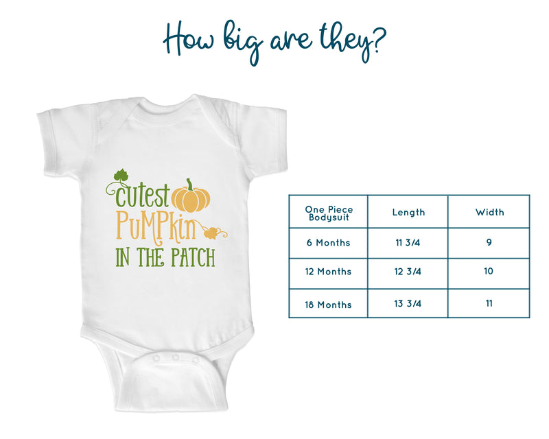 Cutest Pumpkin in the Patch Toddler Shirt or Baby Bodysuit