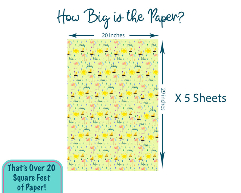 Personalized Baby or Bridal Shower Wrapping Paper