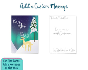 Reindeer Peace & Joy Christmas Cards