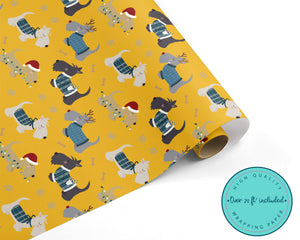 Christmas Scottie Dog WRAPPING PAPER