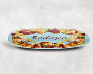 Personalized Thanksgiving Wreath Platter