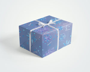Personalized Snowflake Custom Wrapping Paper