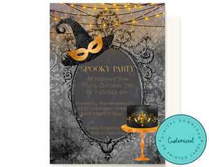 Elegant Adult Halloween Party Invitation