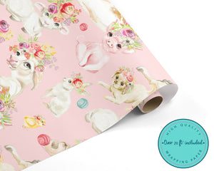 Spring Farm Animals WRAPPING PAPER