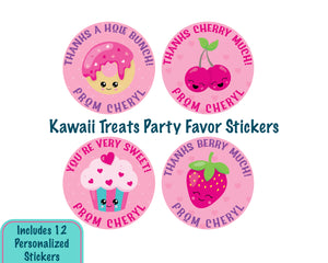 Personalized Sweet Treat Birthday Party Favor Stickers
