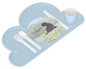 Labrador Retriever Dog & Duckling Plate