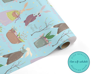 Vintage Style Easter Bunny WRAPPING PAPER