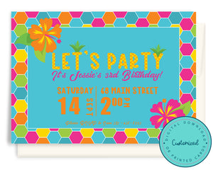Tropical Pineapple Party Invitation