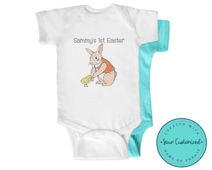Vintage Style Baby's First Easter One Piece Bodysuit