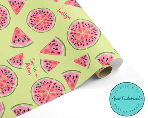 Watermelon - One in a Melon Wrapping Paper