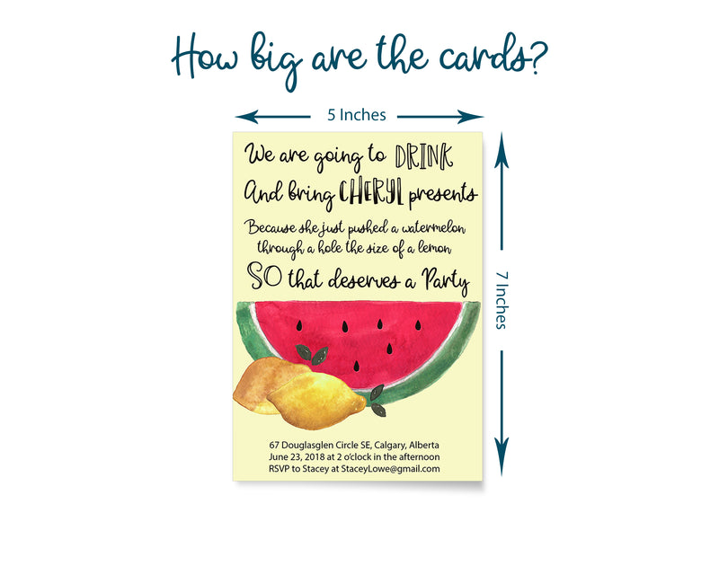 Funny Watermelon Baby Shower Invitation