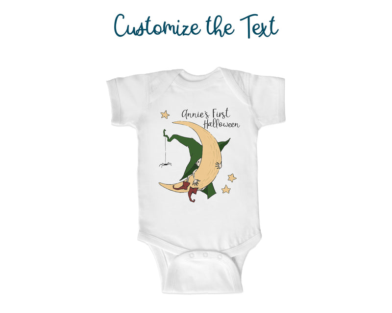 Cute Witch Halloween Toddler Shirt or Baby One Piece Bodysuit