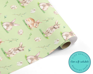 Watercolour Bunnies and Eggs WRAPPING PAPER