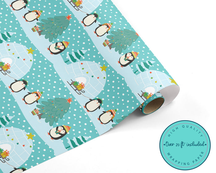 Penguin Christmas Wrapping Paper