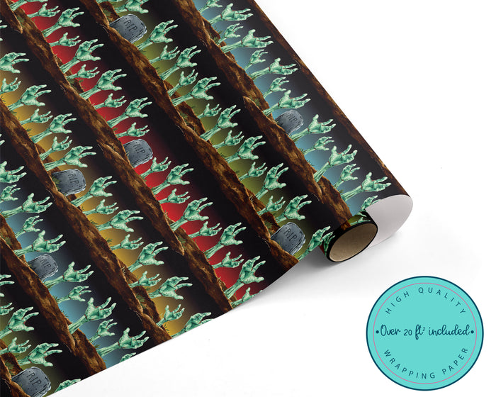 Zombie Halloween Wrapping Paper