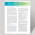Fact Sheet on National Quality Partners Playbook™: Antibiotic Stewardship in Post-Acute and Long-Term Care