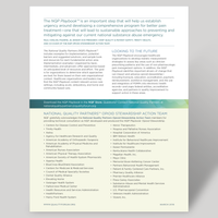 Fact Sheet on National Quality Partners Playbook™: Opioid Stewardship