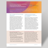 Fact Sheet on National Quality Partners Playbook™: Shared Decision Making in Healthcare