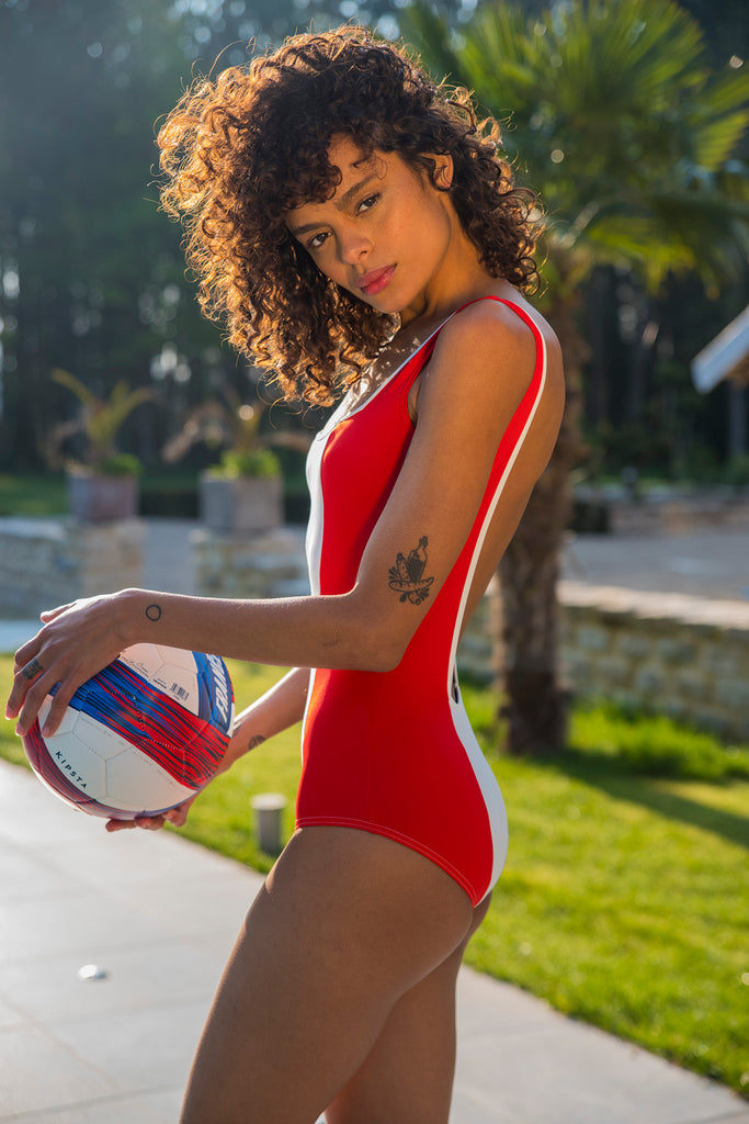Flair body bodysuit made in France swimsuit maillot 1 pièce bleu blanc rouge tricolore dos nu printemps ete 2019 summer