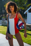 Flair body bodysuit made in France swimsuit maillot 1 pièce bleu blanc rouge dos nu printemps ete 2019 summer