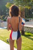 Flair body bodysuit made in France swimsuit maillot 1 pièce bleu blanc rouge décolleté carré dos nu printemps ete 2019 summer
