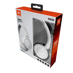 JBL Harman T450BT Casque Audio Supra-Aural Pliable et Léger - Bluetooth - Blanc