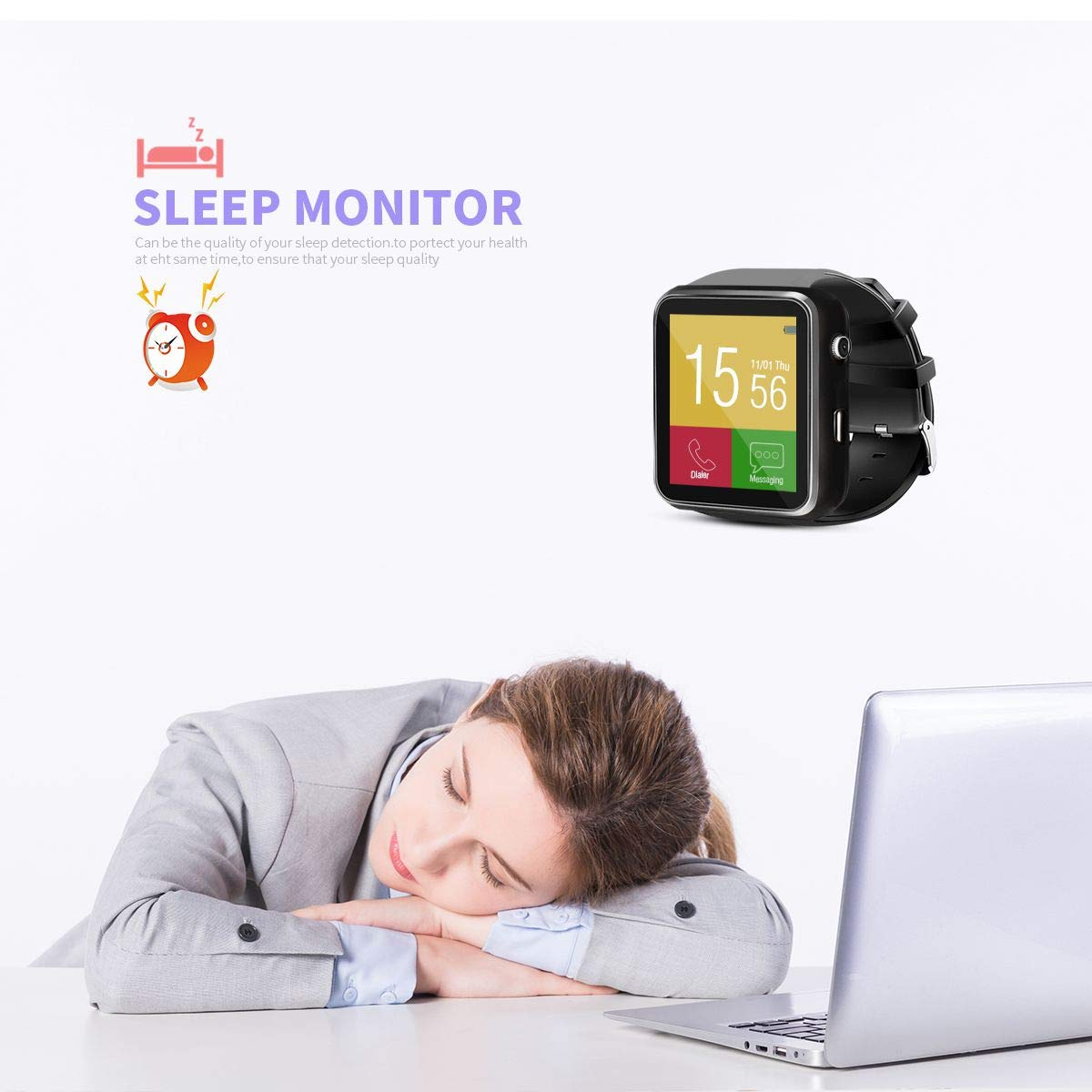 Smart Watch, Bluetooth Smart Watch, podomètres Montre, Smart Bracelet pour Femmes Hommes