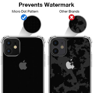 Coque iPhone 11 2019 [2 × Verre trempé Protection écran], iPhone 11 Coque Souple TPU Silicone [Shock-Absorption] AIR Cushion Protection Coin Housse iPhone 11-6.1pouces - Transparent
