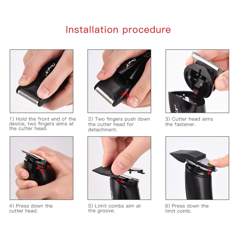 Tondeuse à cheveux 3 EN 1 Rechargeable - Shaver Hair Trimmer Rechargeable Electric Nose Hair Clipper