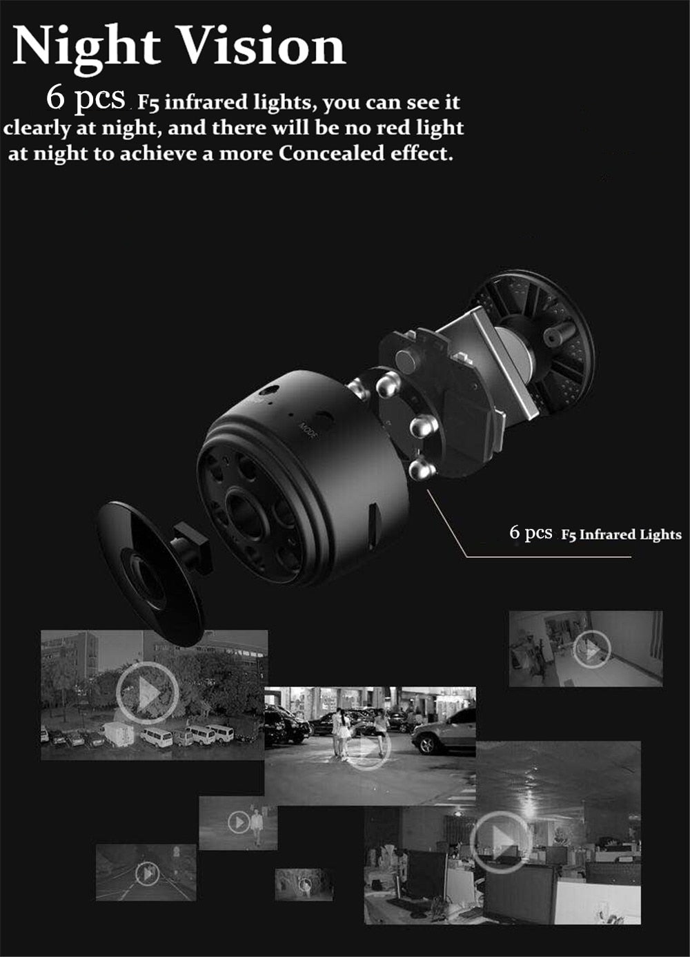 Mini Camera HD 1080P Sensor Night Vision Camcorder Motion DVR Micro Camera Sport DV Video small Camera Remote Monitor Phone App