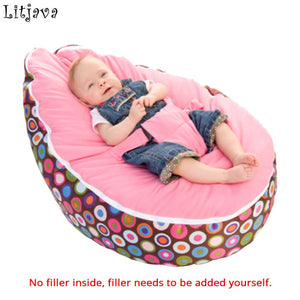 Multicolors Baby Beanbag Portable Baby Chair Folding mama sandalyesi Harness Safety Belt Filler do not included