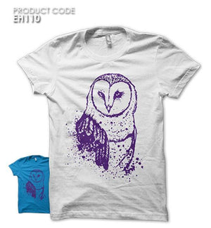 OWL SPLASH  Half Sleeves Tshirt (EH110)