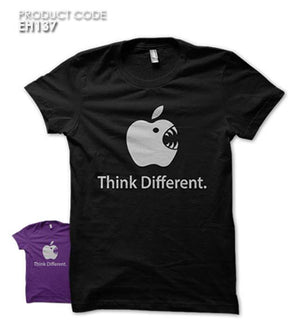 THINK DIFFERENT  Half Sleeves Tshirt (EH137)