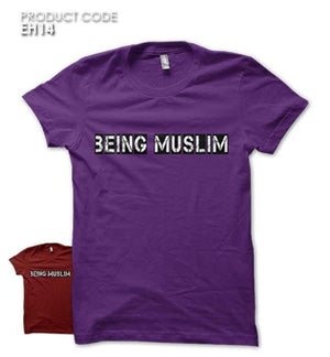 BEING MUSLIM  Half Sleeves Tshirt (EH14)