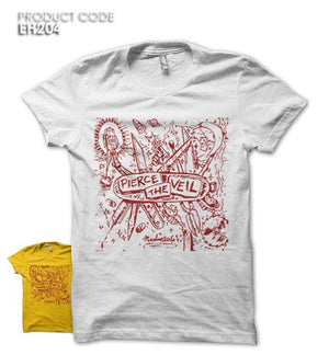 PIERCE THE VEIL Half Sleeves Tshirt (EH204)