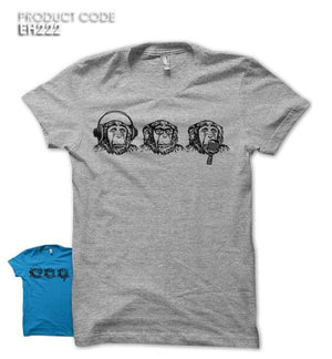 3 MONKEYS Half Sleeves Tshirt (EH222)