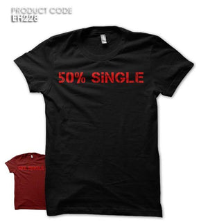 50% SINGLE Half Sleeves Tshirt (EH228)
