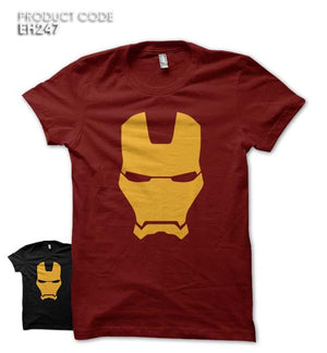 IRON MAN FACE  Half Sleeves Tshirt (EH247)