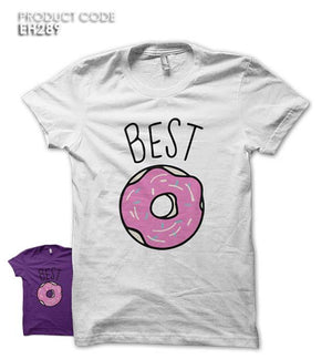 BEST FRIENDS DONUT Half Sleeves Tshirt (EH289)