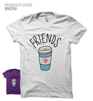 BEST FRIENDS COFFEE Half Sleeves Tshirt (EH290)