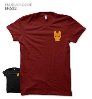 IRON MAN FACE POCKET Half Sleeves Tshirt (EH247A)
